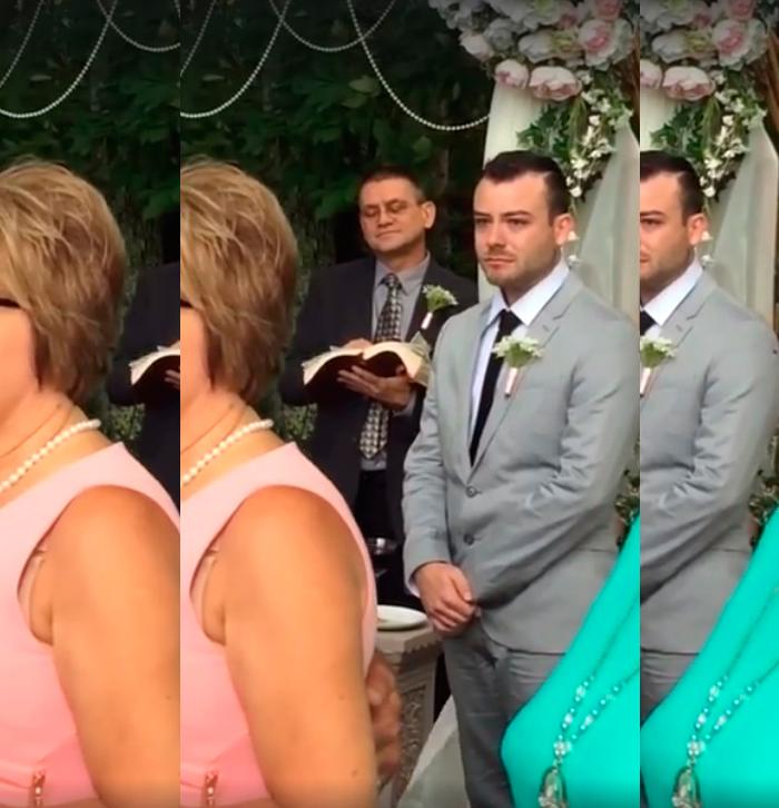 image Pareja interracial día de la boda joder