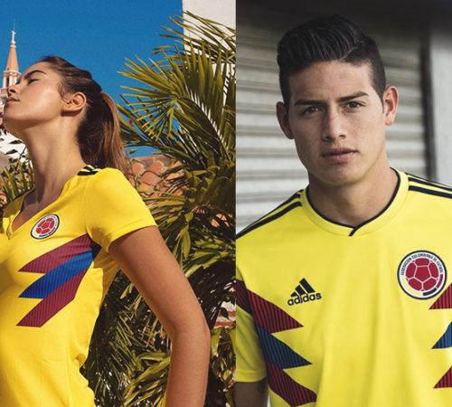 James Rodríguez y Paulina Vega nos muestran la nueva camiseta de la selección