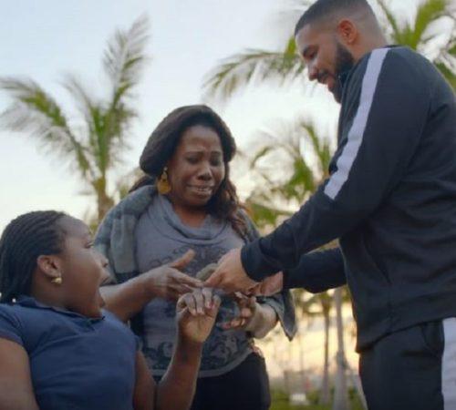 Drake regala un millón de dólares en el video de 'God's Plan'
