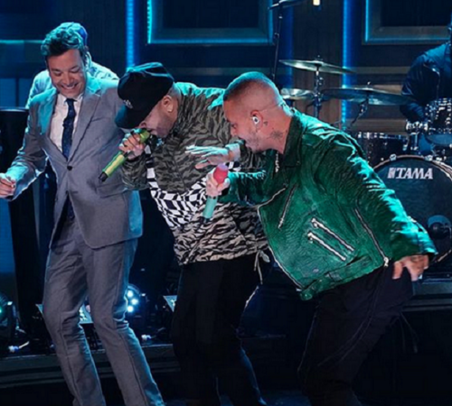 Jimmy Fallon se atrevió a bailar reggaetón con J Balvin y Nicky Jam