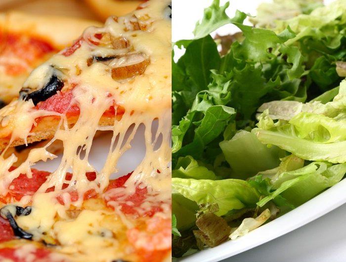 ¿Una ensalada puede ser más perjudicial para la salud que una pizza?