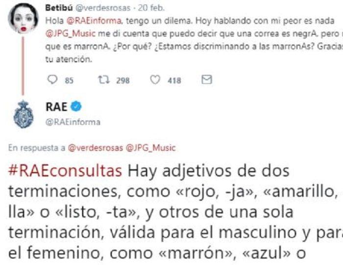 Usuaria hizo una consulta a la RAE y la respuesta se volvió viral